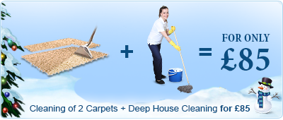 Cleaning of 2 Carpets + Deep House Cleaning £85