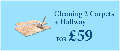 Book Carpet Cleaning of two rooms and a hallway - all for only £59!