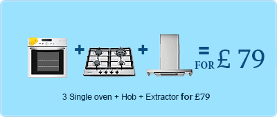 Single Oven + Hob + Extractor Cleaning for £75