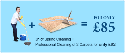Spring Cleaning + 2 Carpets for £85
